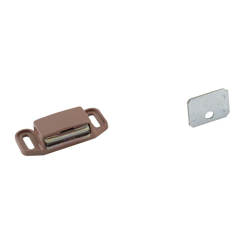 Plastic Tan Magnetic Catch with Steel Strike