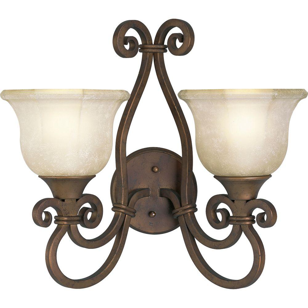 Thomasville Lighting Guildhall Collection Roasted Java 2-Light Wall Sconce-DISCONTINUED