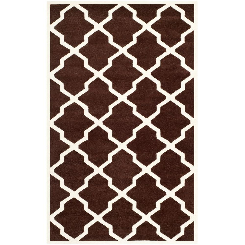 Chatham Dark Brown/Ivory 5 ft. x 8 ft. Area Rug