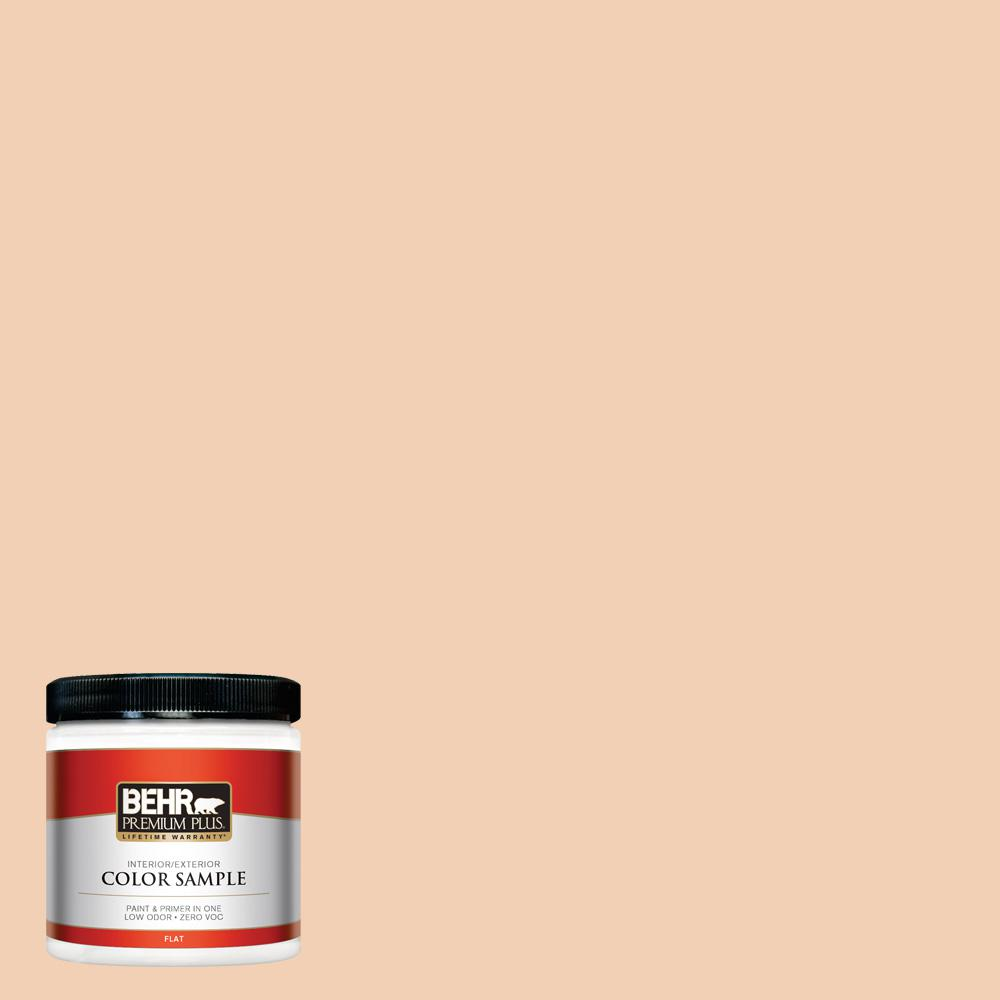 8 oz. #PPU3-07 Pale Coral Flat Interior/Exterior Paint Sample
