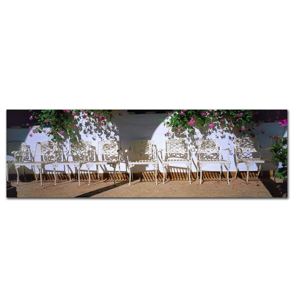 8 in. x 24 in. Spanish Chairs Canvas Art