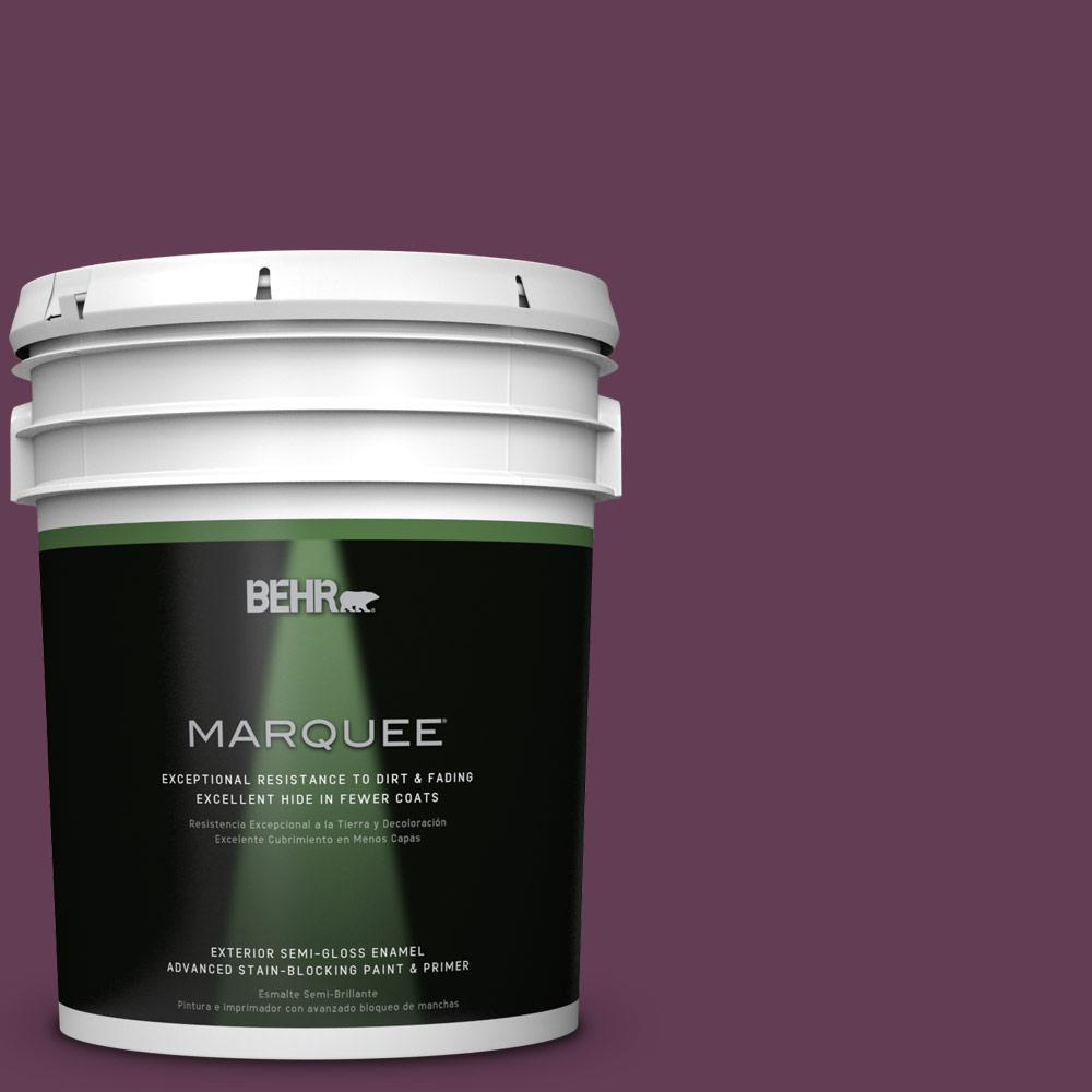 5-gal. #S-G-690 Delicious Berry Semi-Gloss Enamel Exterior Paint