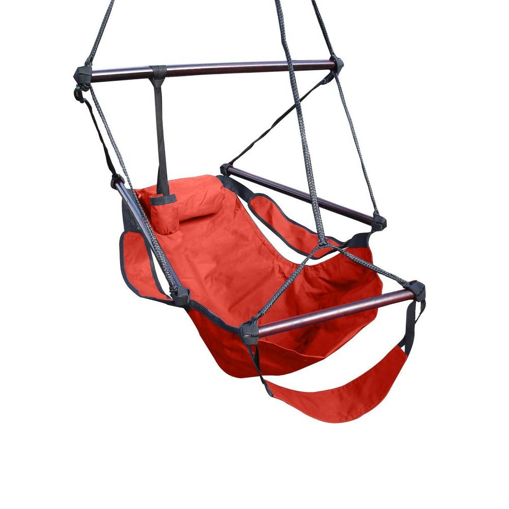 Vivere 2 ft. Polyester Hanging Chair in Redwood
