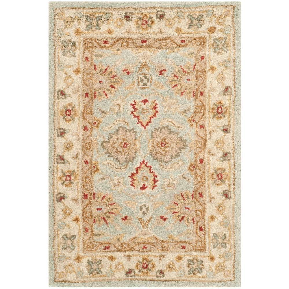 Antiquity Grey Blue/Beige 2 ft. x 3 ft. Area Rug