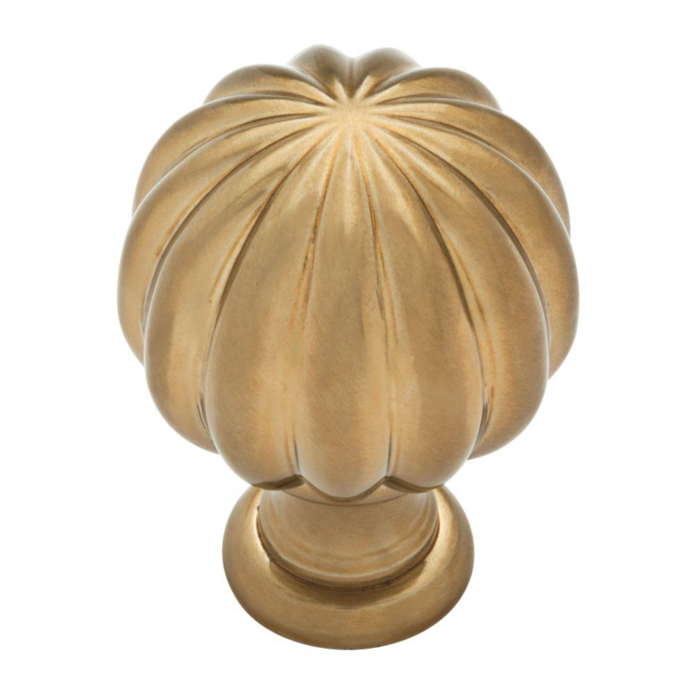 Fluted Classic 1-3/16 in. Champagne Bronze Cabinet Knob