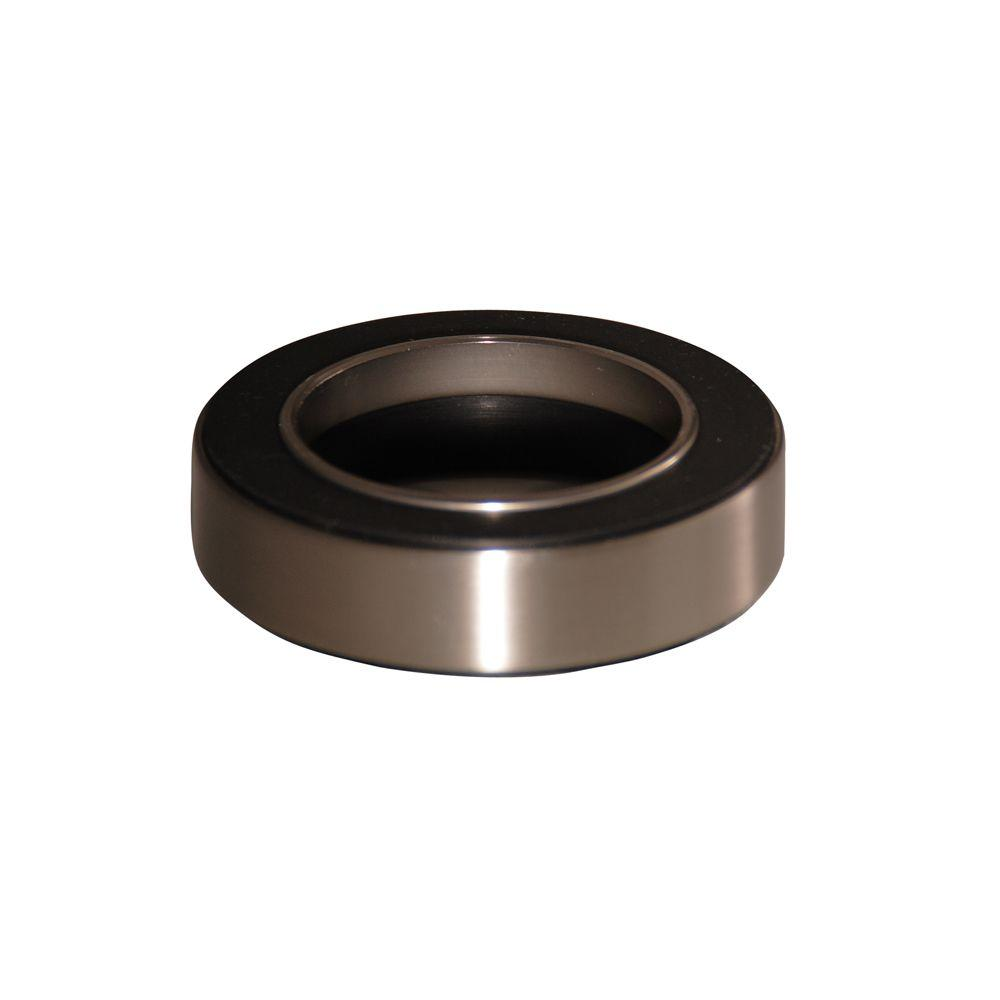 Pegasus Mounting Ring for Umbrella Drain and Glass Vessel in Satin Nickel