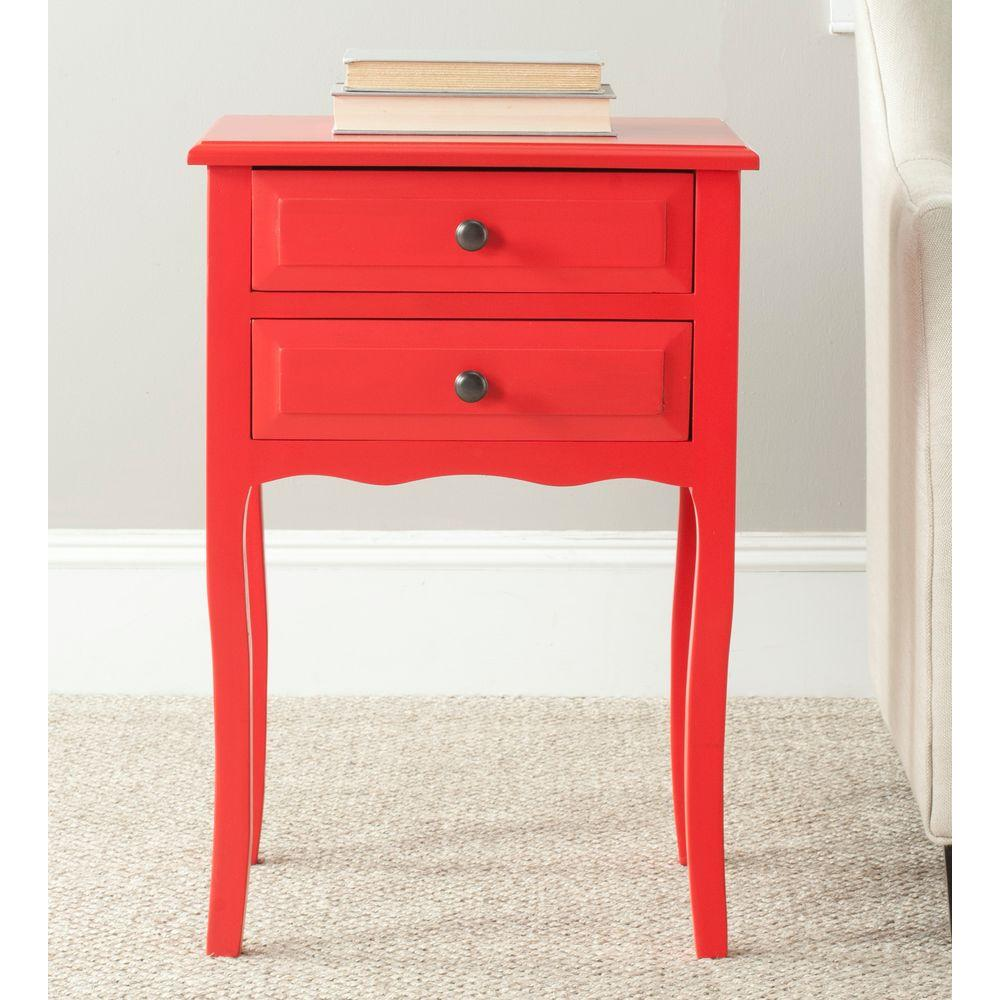 Lori Red End Table