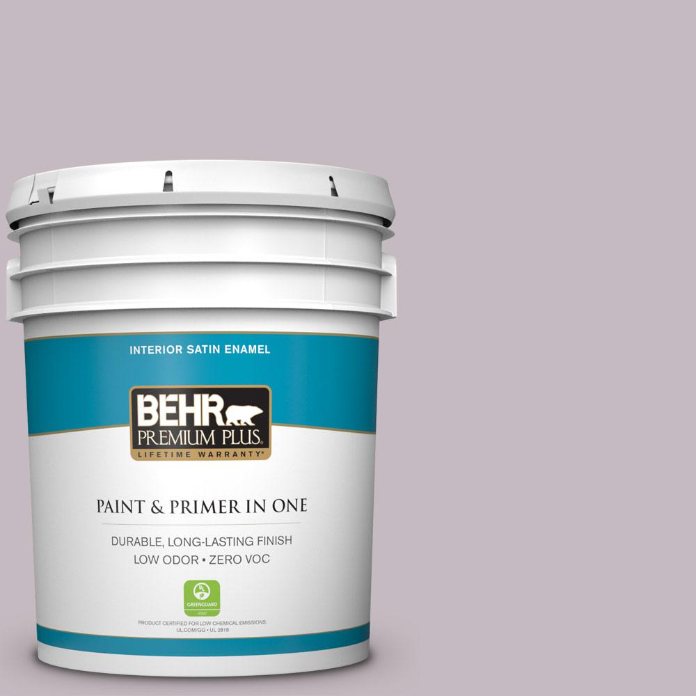 5-gal. #N110-2 Mulberry Stain Satin Enamel Interior Paint