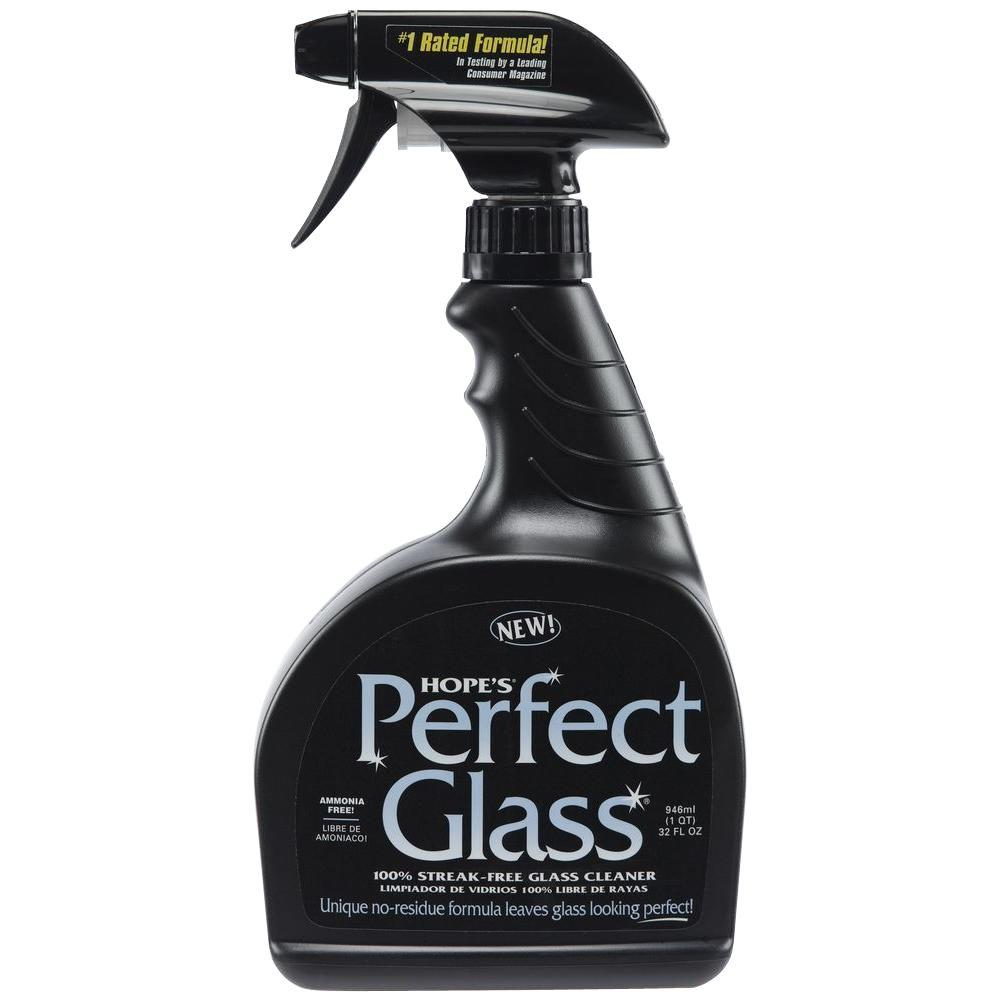 Hope's 32 oz. Perfect Glass Fresh and Clean Streak-Free Glass Cleaner-32PG12