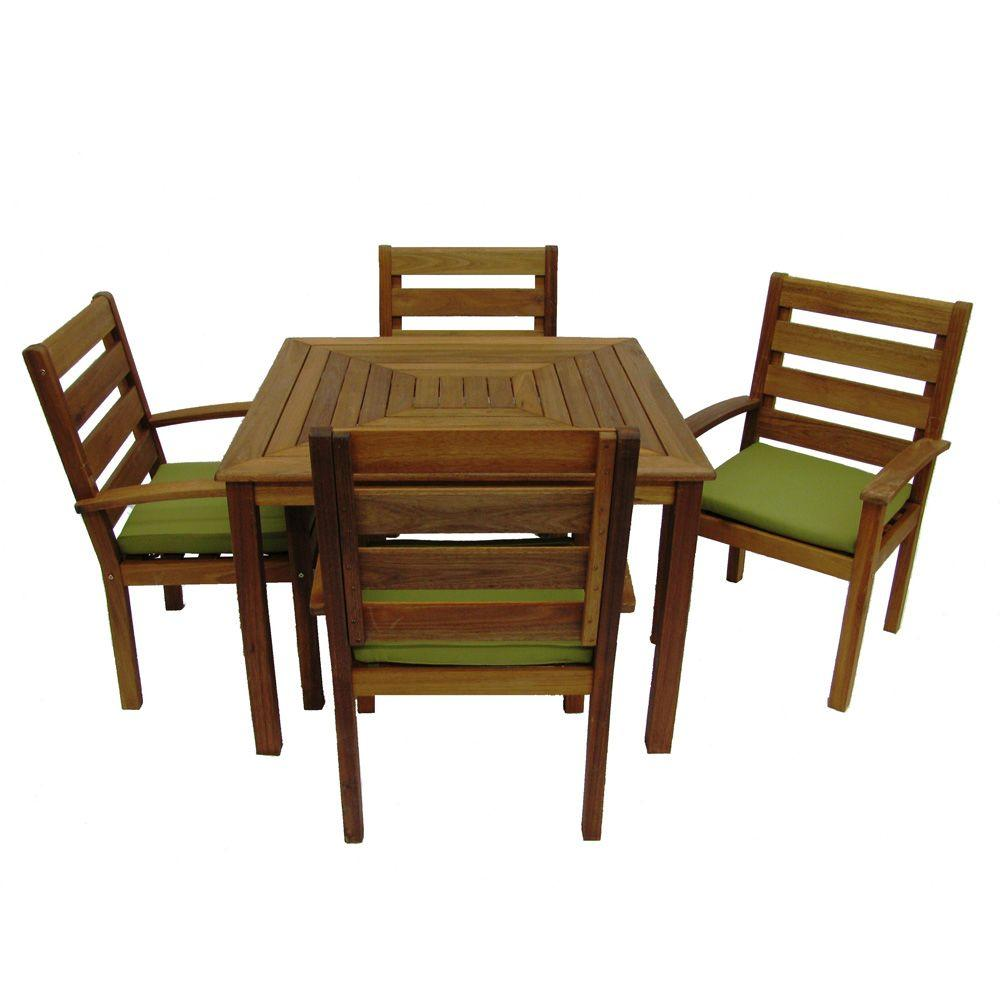 Martha Stewart Living Cumberland Smoked 5-Piece Dining Patio Set-DISCONTINUED