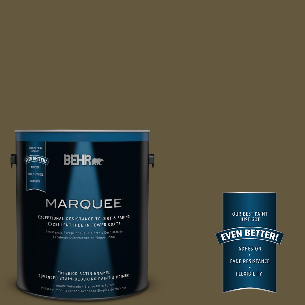 BEHR MARQUEE 1-gal. #PPU7-1 Moss Stone Satin Enamel Exterior Paint