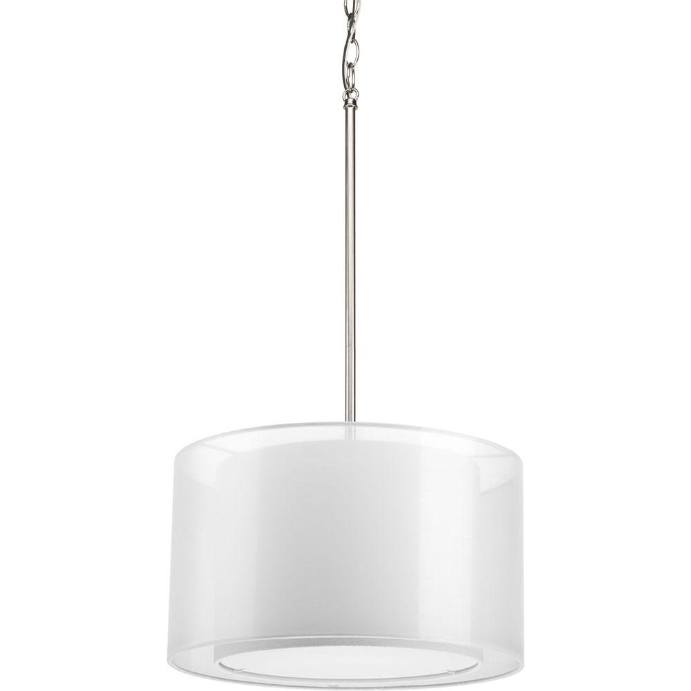 Cuddle Collection 1-Light Brushed Nickel Pendant