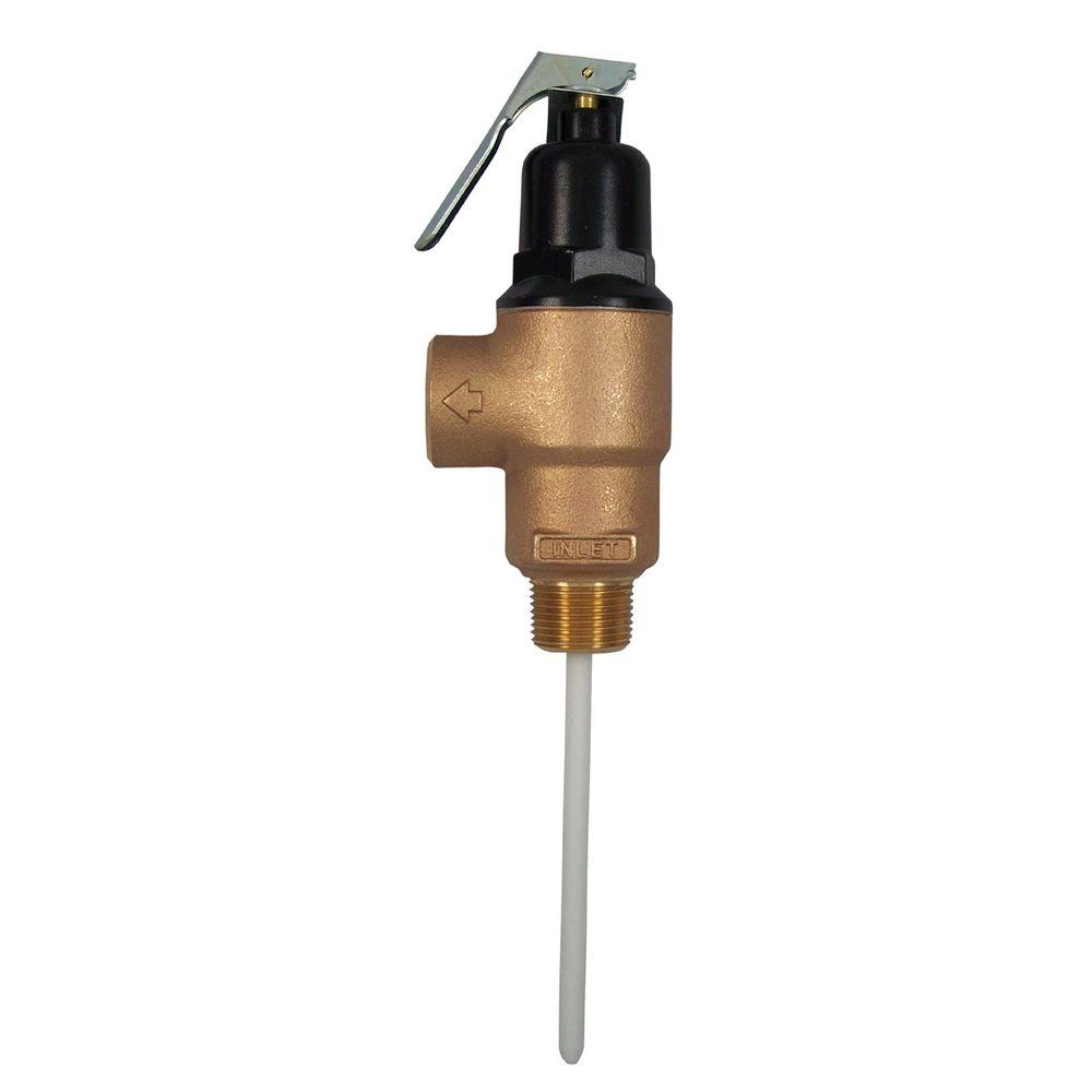 Cash Acme 3/4 in. Brass Male Inlet FVMX-5C Temperature and Pressure Relief Valve