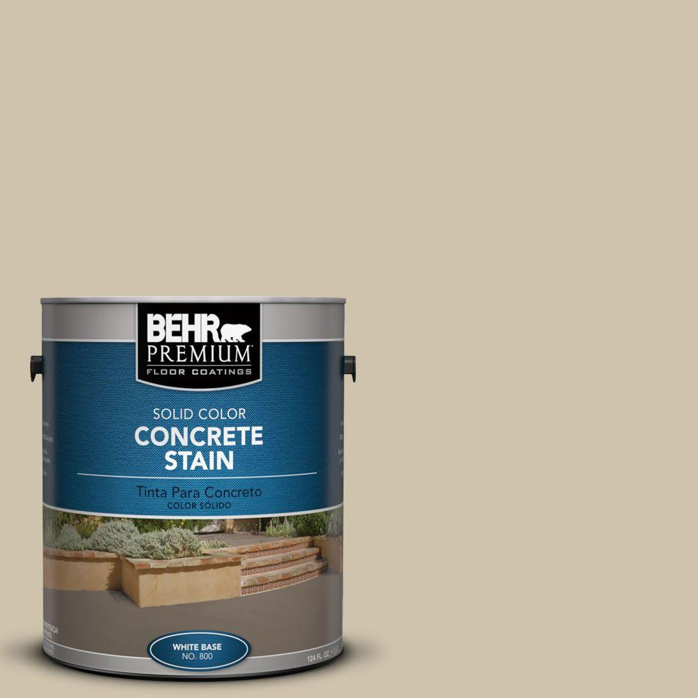1 gal. #PFC-27 Light Rattan Solid Color Concrete Stain