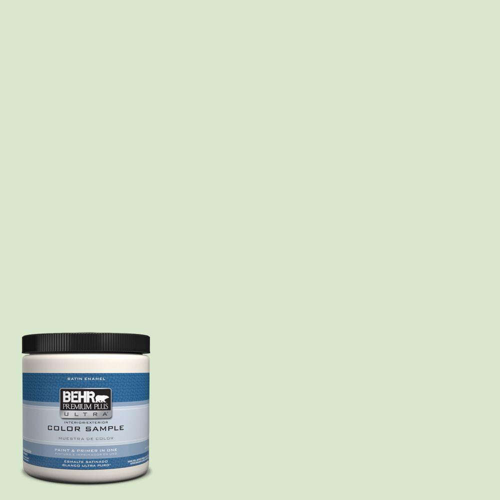 BEHR Premium Plus Ultra 8 oz. #T12-18 Minty Frosting Interior/Exterior Satin Enamel Paint Sample