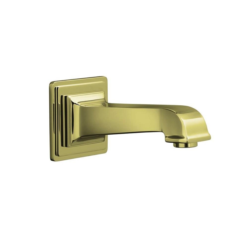 KOHLER Pinstripe Pure Wall-Mount Non-Diverter Bath Spout in Vibrant French