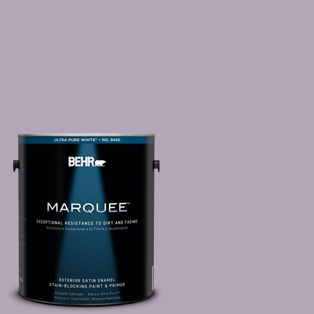 BEHR MARQUEE 1-gal. #660F-4 Plum Frost Satin Enamel Exterior Paint-945401 -