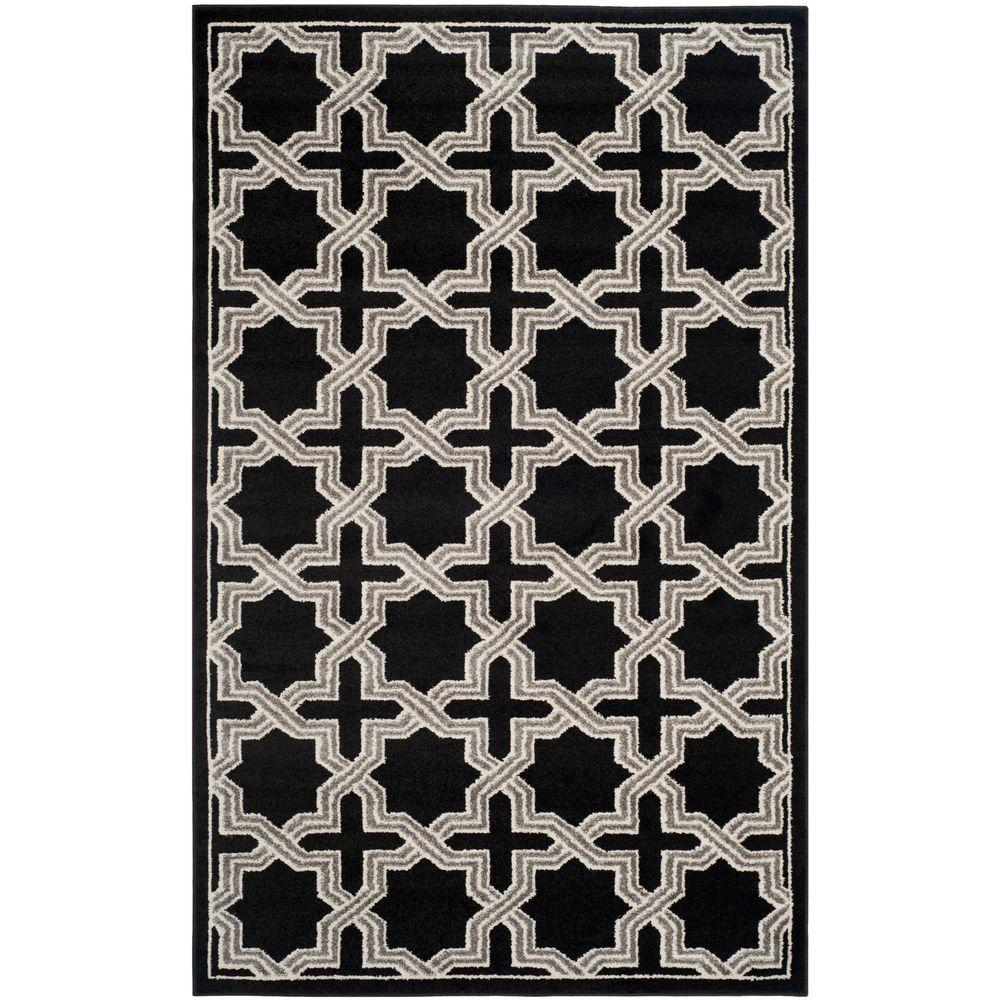 Amherst Anthracite/Gray 4 ft. x 6 ft. Indoor/Outdoor Area Rug