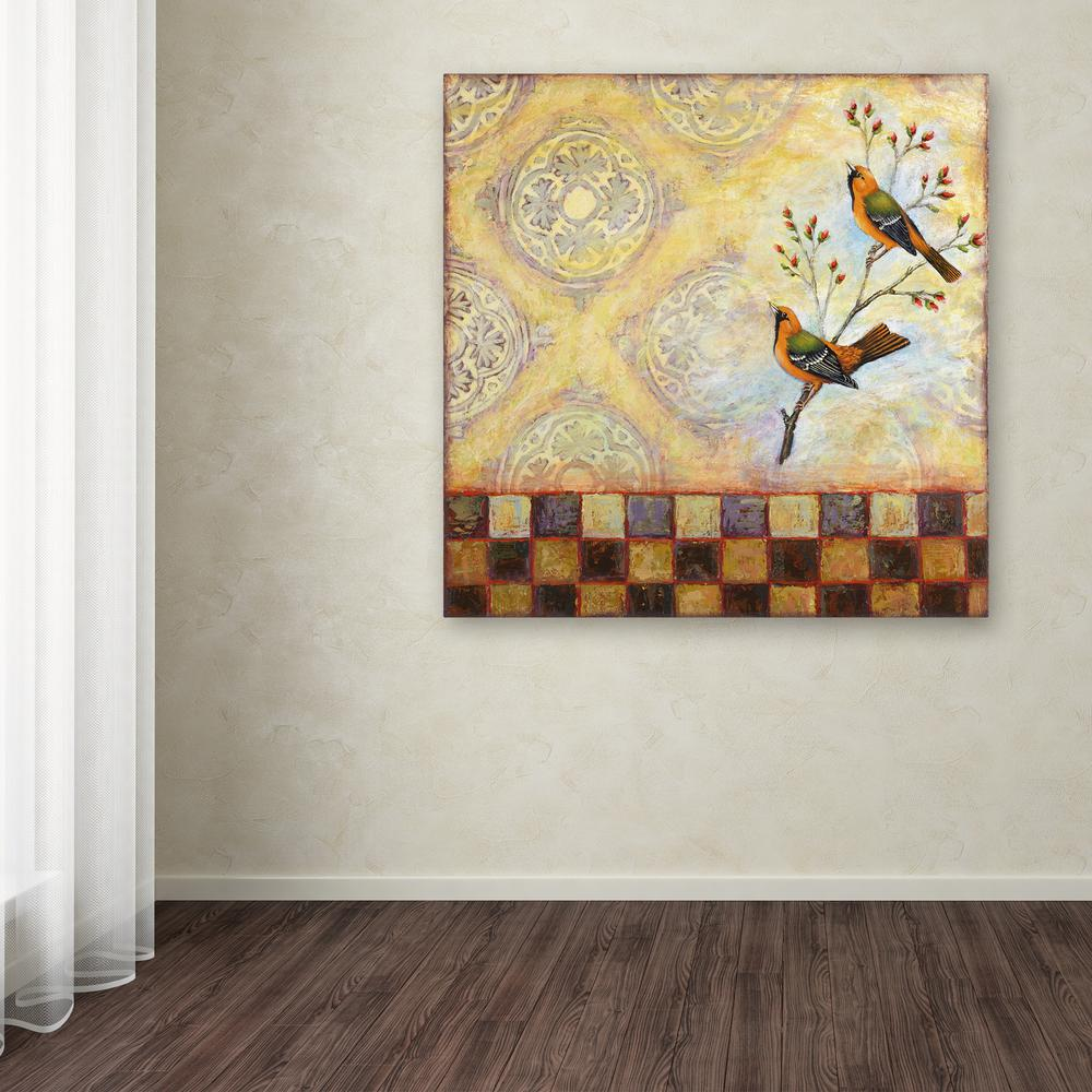 "18 in. x 18 in. ""Birds and Tiles"" by Rachel Paxton"