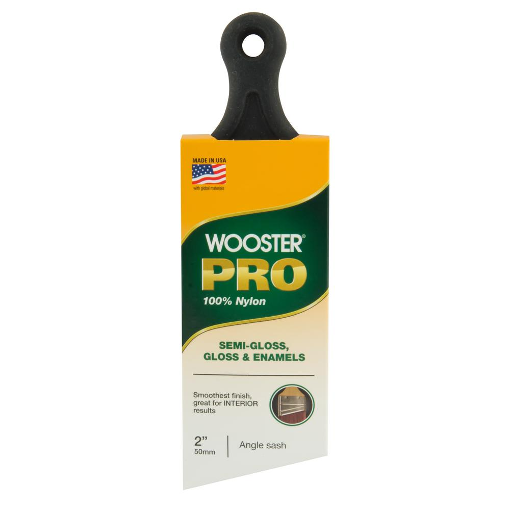 Wooster Pro 2 in. Nylon Short Handle Angle Sash-0H21360020 - The