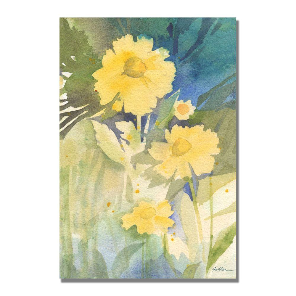 Trademark Fine Art Wall Art and Posters 22 in. x 32 in. Sunshine Yellow Canvas Art SG5630-C2232GG
