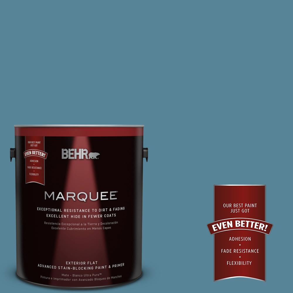 1-gal. #S480-5 Blue Moon Bay Flat Exterior Paint
