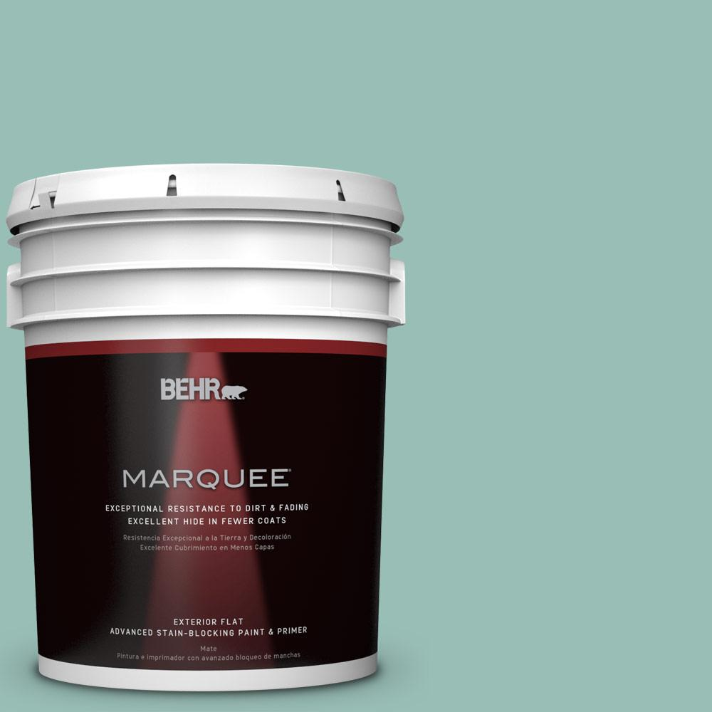 BEHR MARQUEE 5-gal. #PPU12-7 Spring Stream Flat Exterior Paint-445405 - The