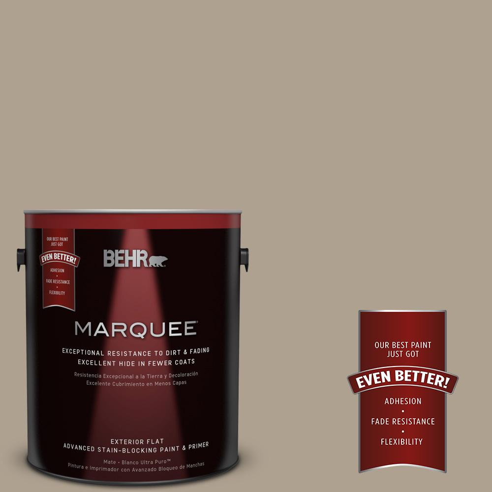 BEHR MARQUEE 1-gal. #UL170-20 Sierra Sand Flat Exterior Paint-445401 - The