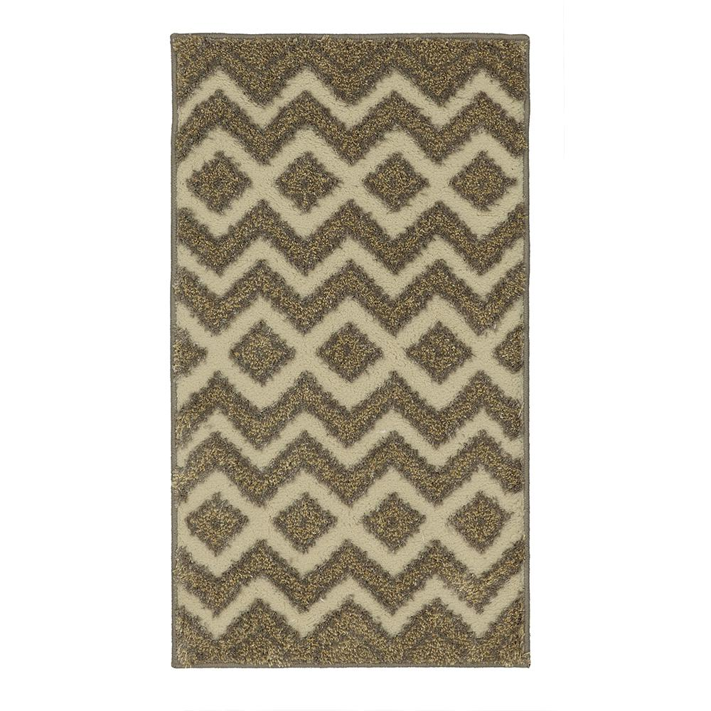 Chevron Accent Rug: Mohawk Home Chevron Mix Cream 2 Ft. X 3 Ft. 8 In. Accent