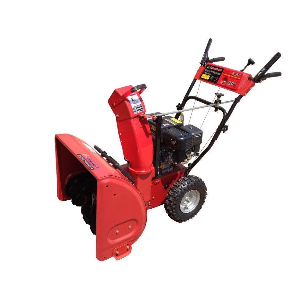Powerland 24 in. Two-Stage Electric Start Gas Snow Blower