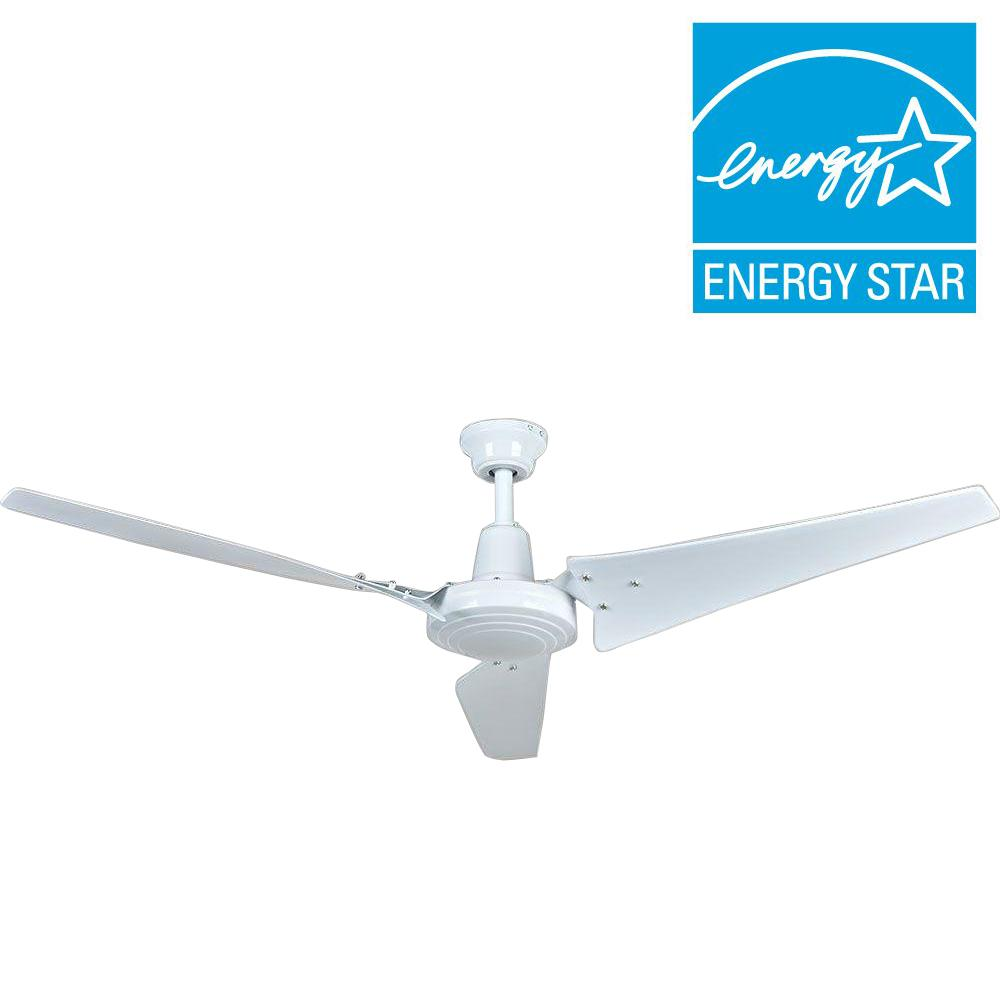 Hampton Bay Industrial 60 In. White Ceiling Fan With Wall