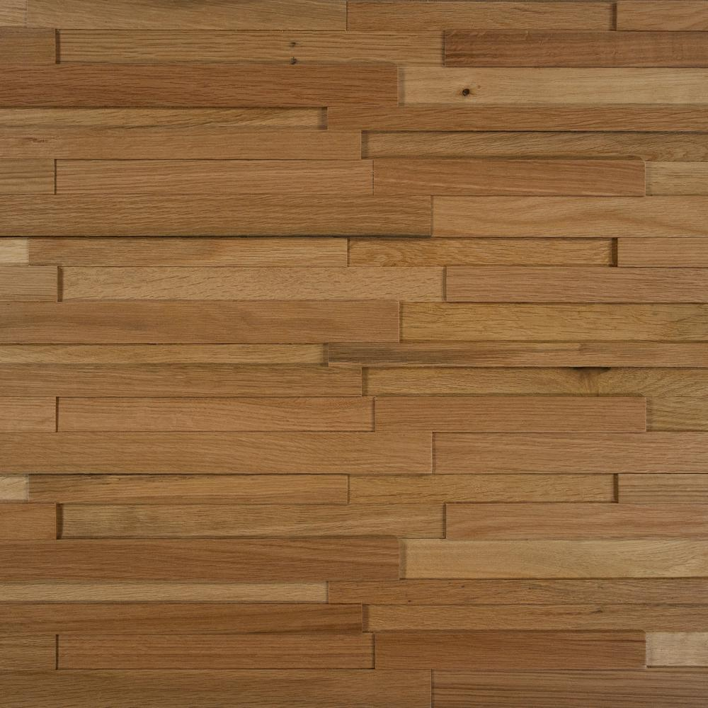 Take Home Sample - Deco Strips Straw Engineered Hardwood Wall Strips - 5 in. x 7 in., Antique Straw