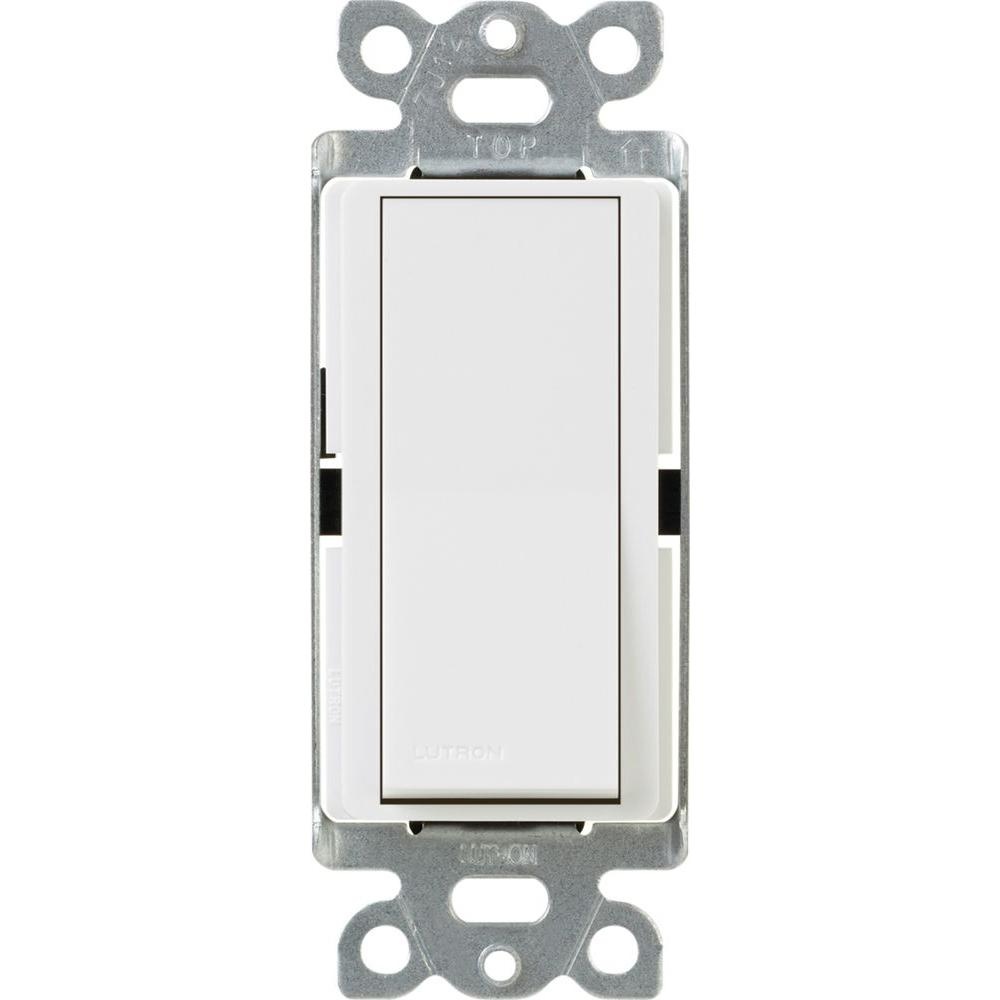 Lutron Claro 15 Amp Single Pole Paddle Switch White Ca