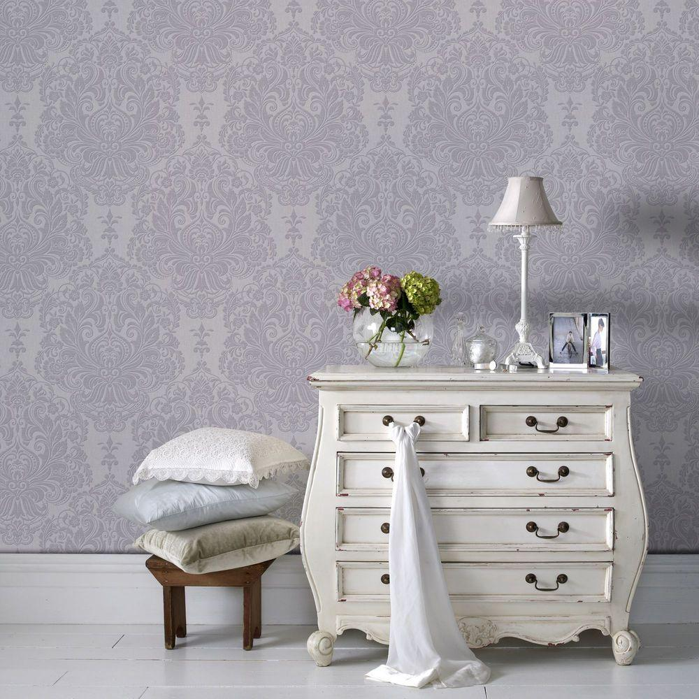 Graham & Brown 56 sq. ft. Lilac Melody Wallpaper-20-927 - The