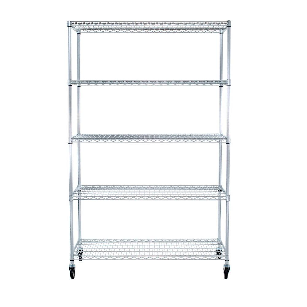 EcoStorage 48 in. x 24 in. NSF Chrome Color 5-Tier with