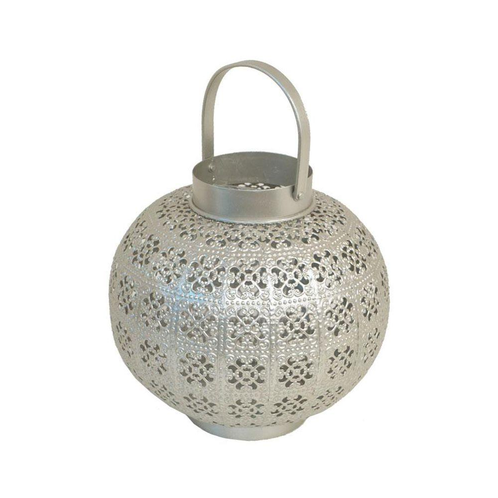Home Decorators Collection Meena Silver 8.5 in. W Metal Votive Candle Holder-DISCONTINUED