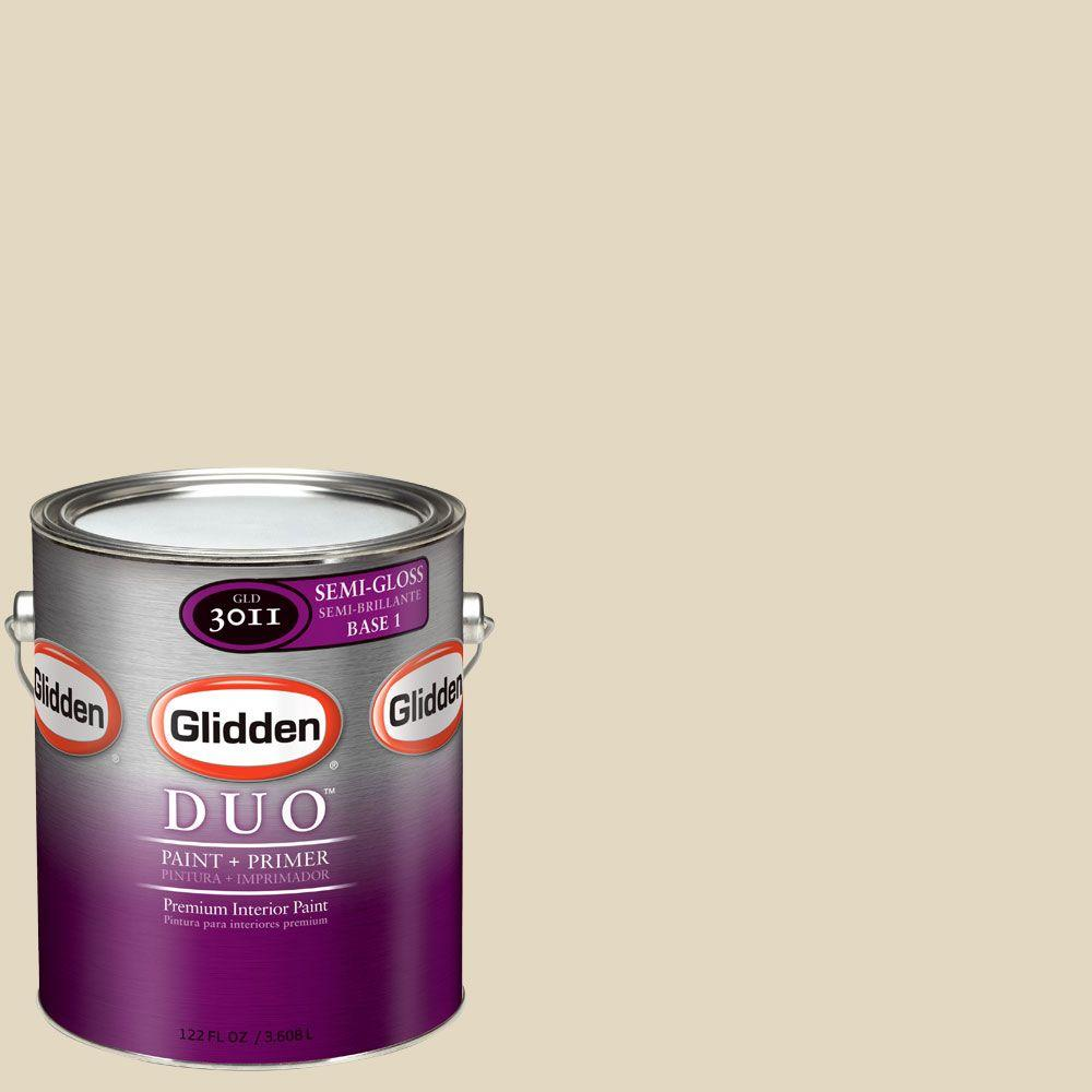 Glidden DUO 1-gal. #GLN32-01S Navajo Sand Semi-Gloss Interior Paint with Primer