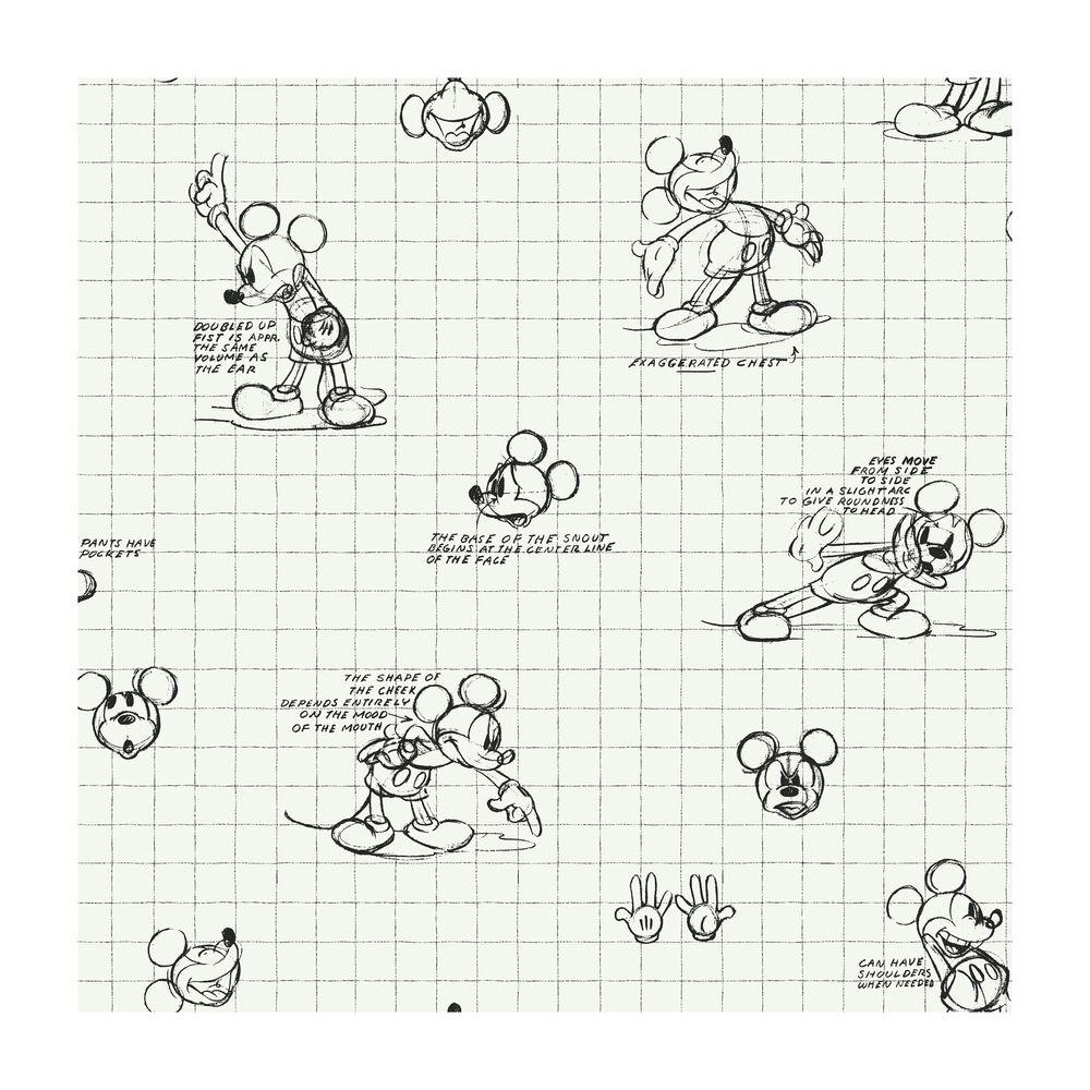 York Wallcoverings Mickey Mouse Sketches Wallpaper