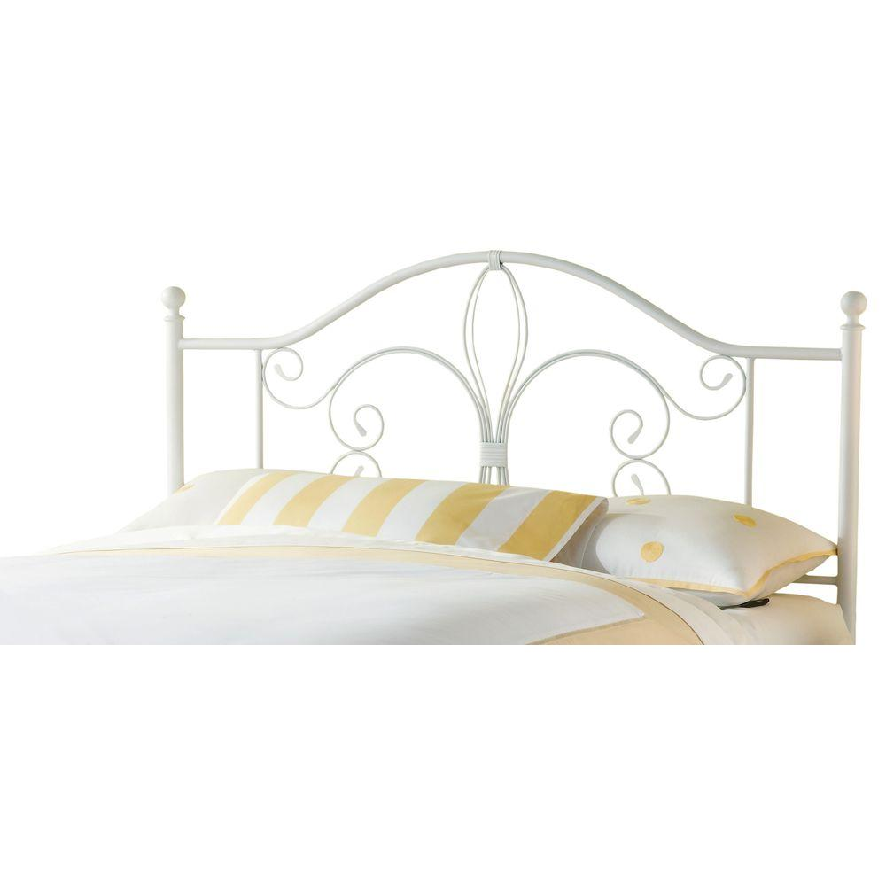 Hillsdale Furniture Ruby Textured White King-Size Headboard with Rails