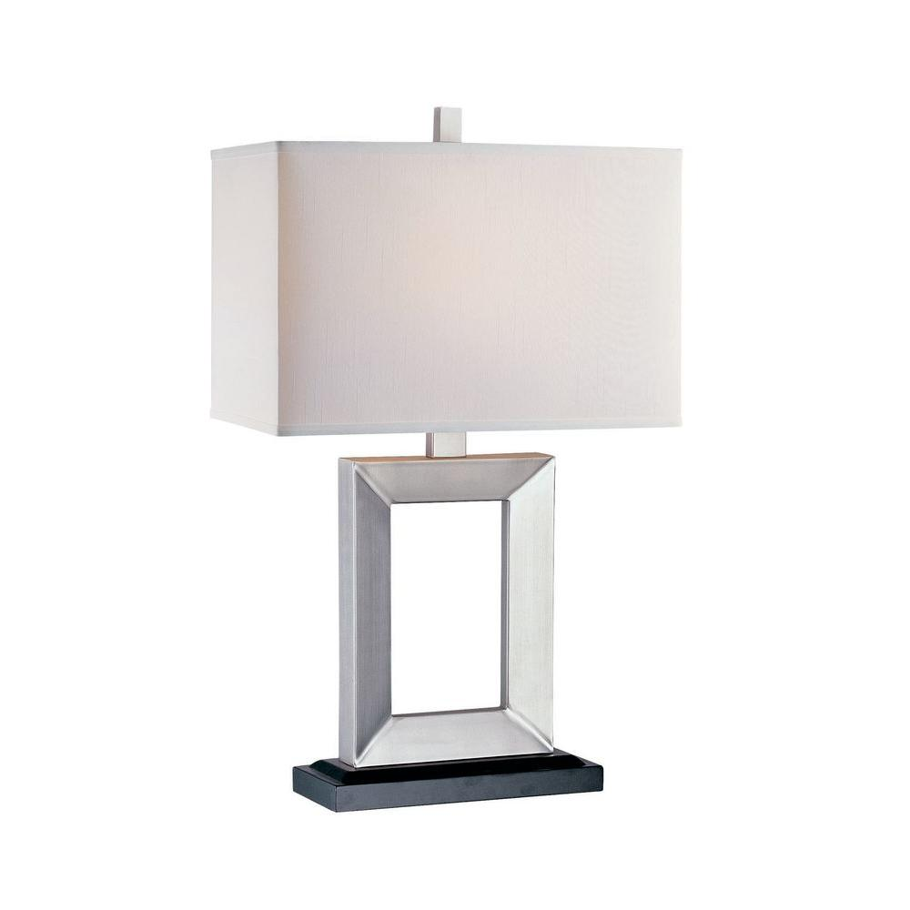 Illumine 1-Light Table Lamp Silver And Dark Walnut Finish-DISCONTINUED
