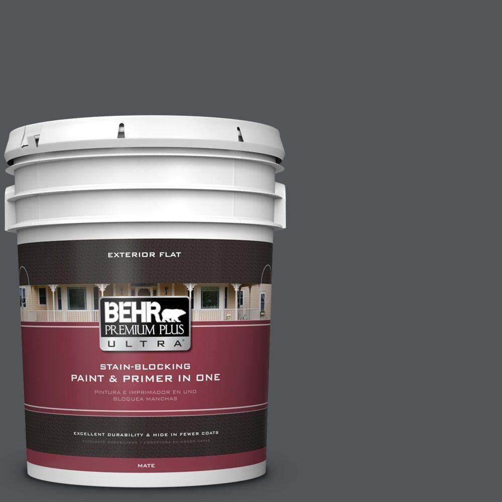 BEHR Premium Plus Ultra 5-gal. #N510-6 Orion Gray Flat Exterior Paint
