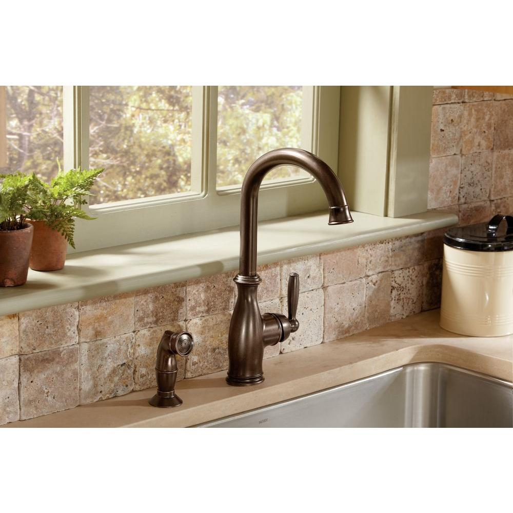 Bronze Kitchen Sink Faucets Moen Brantford High Arc Single Handle Standard Kitchen Faucet With
