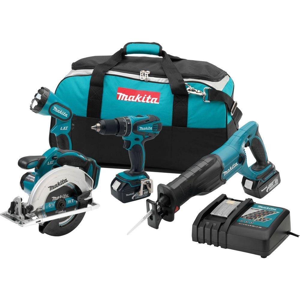 18-Volt LXT Lithium-Ion Combo Kit (4-Tool)