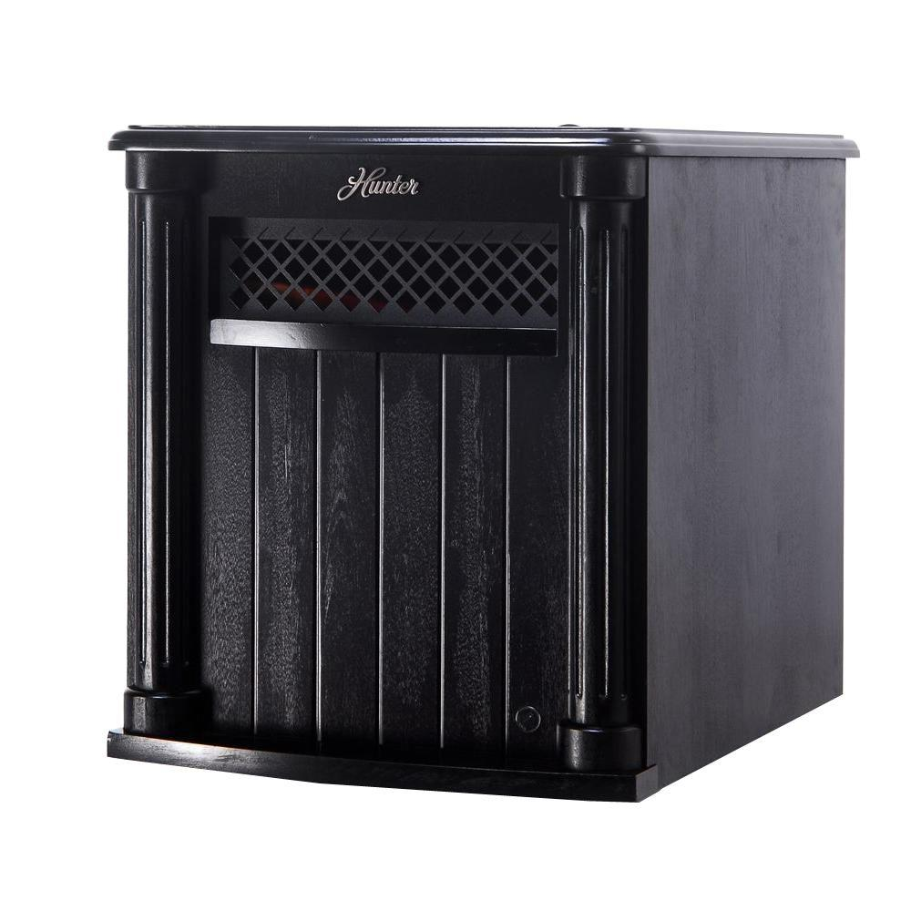 1500-Watt 6-Quartz Element Infrared Electric Wood Cabinet Heater with Remote