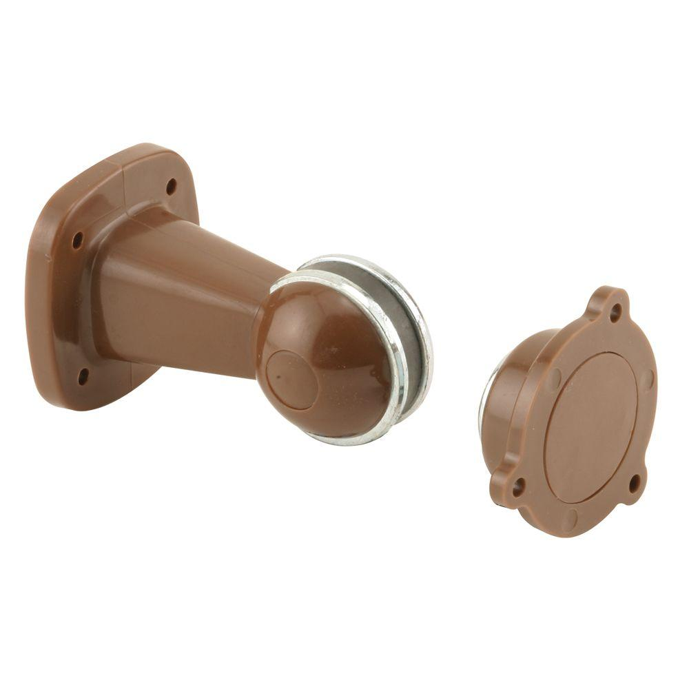 Prime-Line Magnetic Brown Plastic Door Holder and Retainer-DISCONTINUED