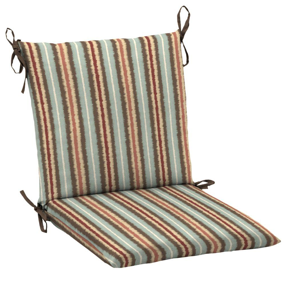 Hampton Bay Elaine Ikat Stripe Mid-Back Outdoor Dining Chair