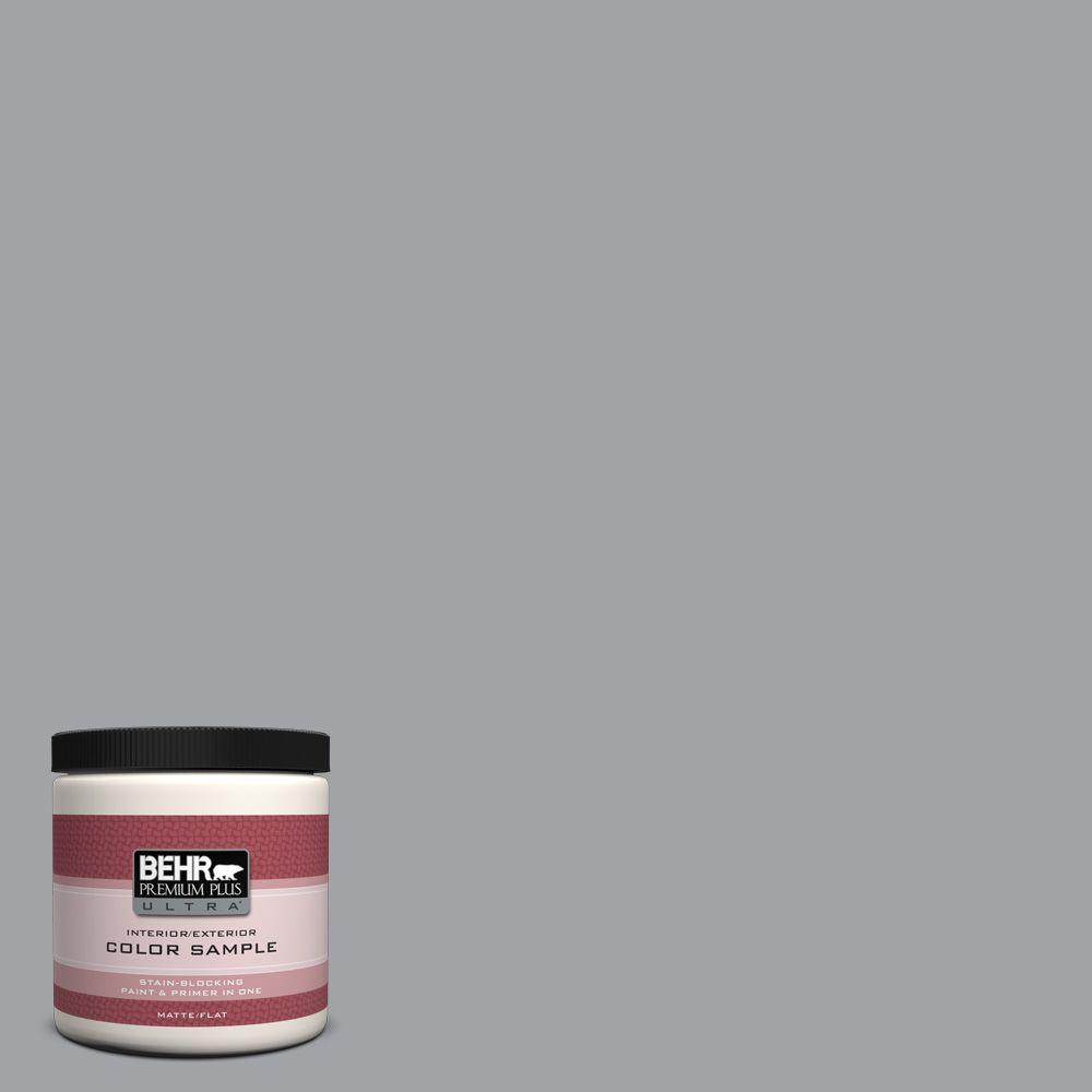 8 oz. #N530-4 Power Gray Interior/Exterior Paint Sample