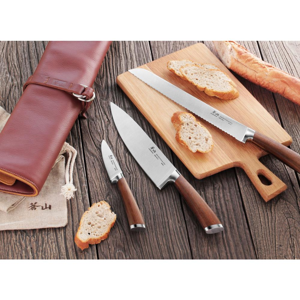 Cangshan H1 Series 4-Piece Leather Roll Knife Set-59939 - The Home
