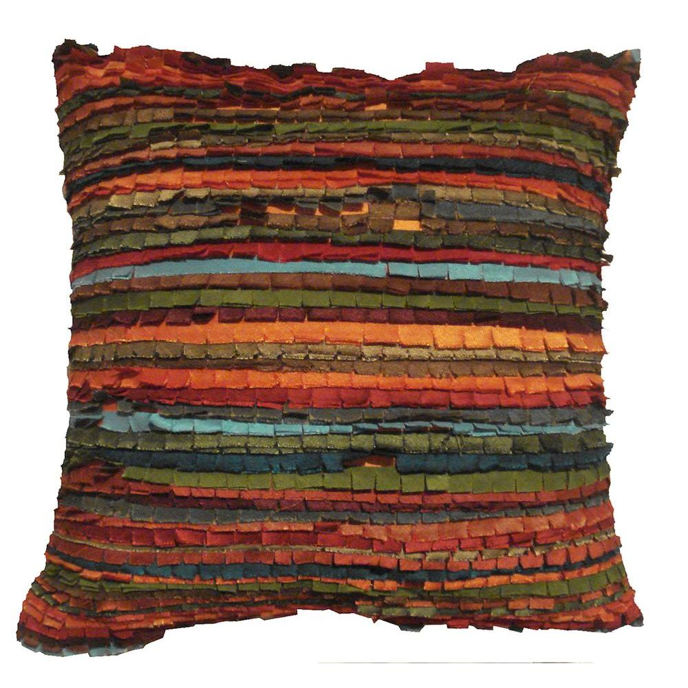 LR Resources Contemporary Lali Primitive 18 in. x 18 in. Square Decorative Accent Pillow (2-Pack)