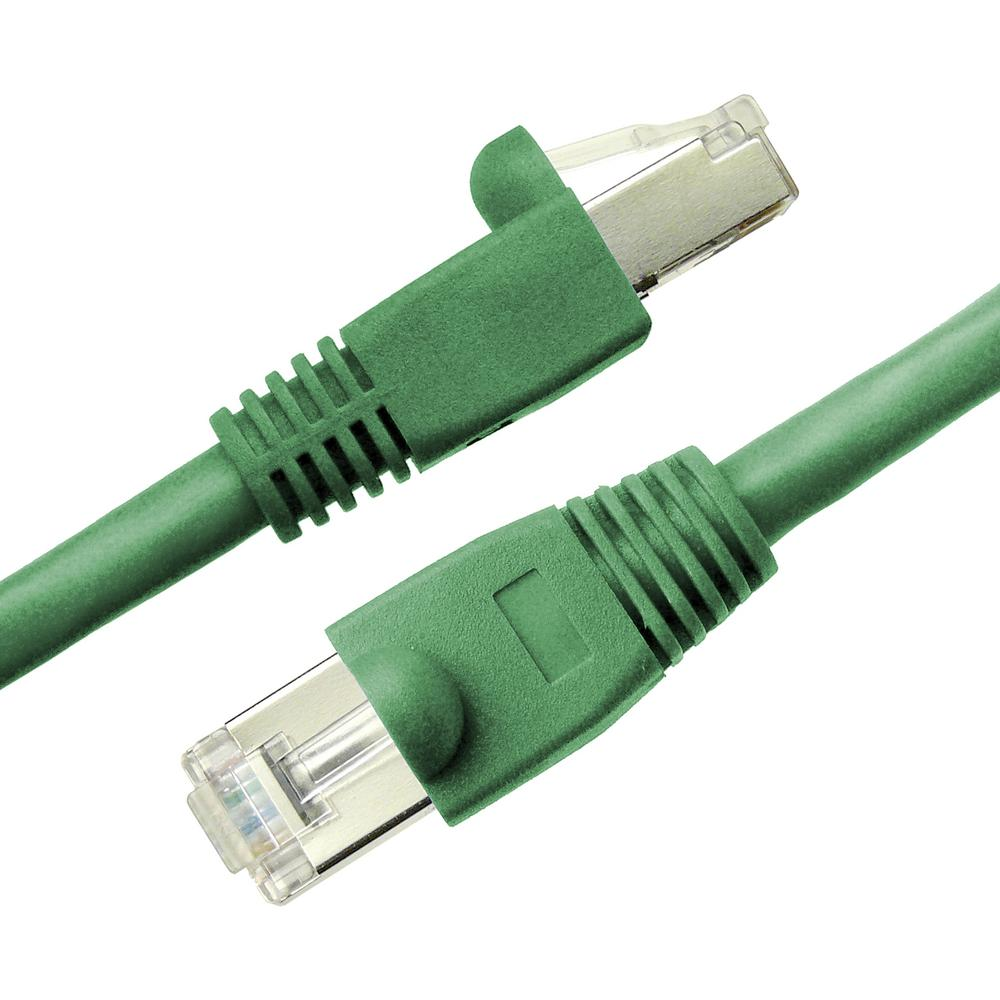 NTW 5 ft. Cat6a Snagless Shielded (STP) Network Patch Cable, Green-345-S6A-005GN